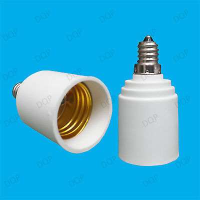 E11 Candelabra To ES E27 Light Bulb Lamp Socket Converter Adaptor Edison Screw
