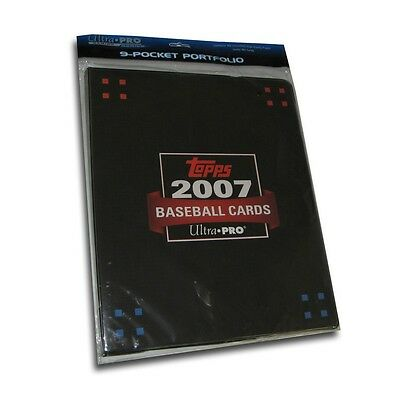 2007 Topps Baseball Trading Cards 9 Pocket Collectors Album with Cards