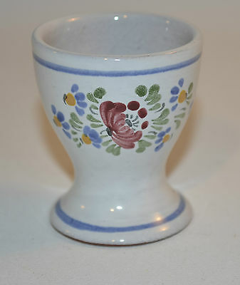 Egg Cup Blue Flowers White Cup