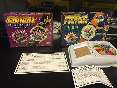 NEW Wheel Of Fortune Collectible Jeopardy Watch 1 Sealed 1 Open Box  Vintage