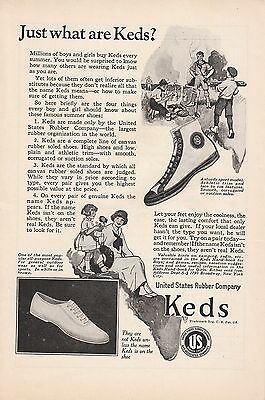 1923 United States Rubber Ad: Millions of Boys & Girls Buy Keds Every Summer
