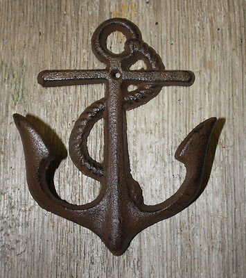 Cast Iron Nautical Anchor Towl, Coat Hooks, Hat Hook, Key Rack