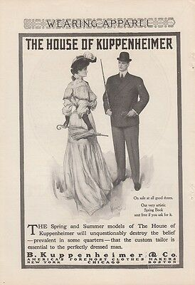 1905 B Kuppenheimer & Co Ad: Spring & Summer Clothes Perfectly Dressed Man