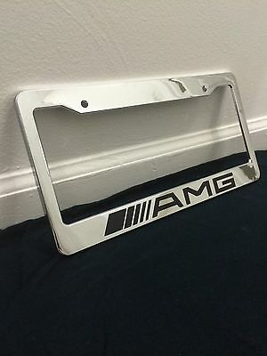 custom mercedes benz amg personalized license plate frame tag holder