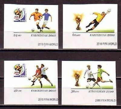 World Cup 2010 Football Kyrgyzstan MNH imperf 4 stamps