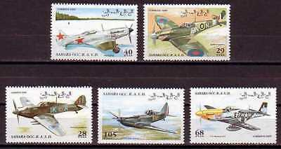 Plane Aviation Sahara MNH 5 stamps 1995