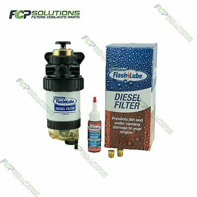 FLASHLUBE Diesel 30 Micron Fuel Water Separator filter Assembly + Hand Primer