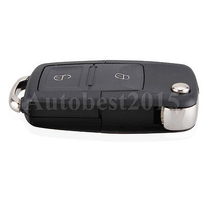 2 Button Folding Remote Key Shell Fob For VW VOLKSWAGEN MK4 GOLF Without Blade