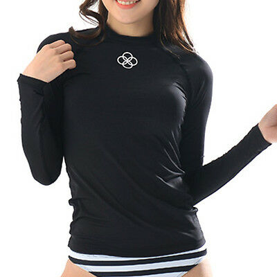 Belleap Rash Guard Womens Compression Long Sleeve Swimwear UV Protection 0535