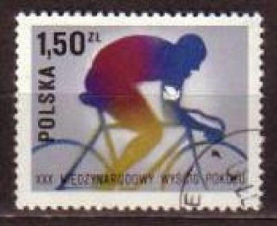Cycling Polska Poland stamp 1977