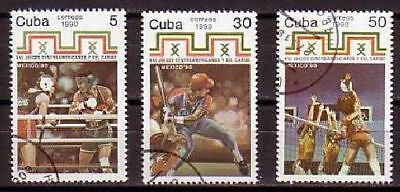 Baseball Boxing Volleyball 3 stamps