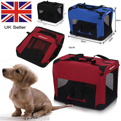 Uk Dog Pet Crate Fabric Soft Carrier Kennel Travel Folding Cage