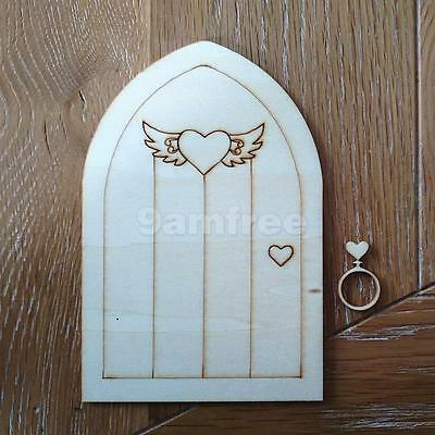 10 Wood Cut Outs Fairy Hobbit Elf Door With Knocker Ring Craft Embellishment