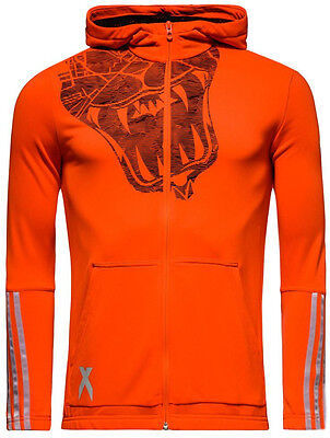 Adidas Lock Room Team X Junior Kids Football Training Casual Hoody - Orange