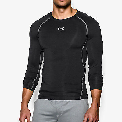 Under Armour HeatGear Compression Mens Long Sleeve Top - Black