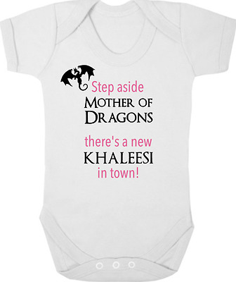 GAME OF THRONES New Funny Bodysuit/Grow/Vest, Newborn Gift, Baby Shower KHALEESI