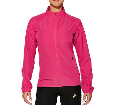 Asics Essentials Woven Ladies Waterproof Insulated Running Training Jacket Pink