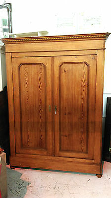 Beautiful 19Th Century Carved French Pine Armoire/hanging Cupboard
