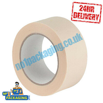 48 Rolls Quality Masking Tape 48mm X 50m *Lowest Price* TRADE DECORATING JOB LOT