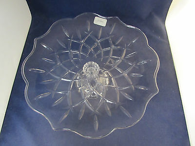 Gorham Crystal LADY ANNE Footed Cake Plate