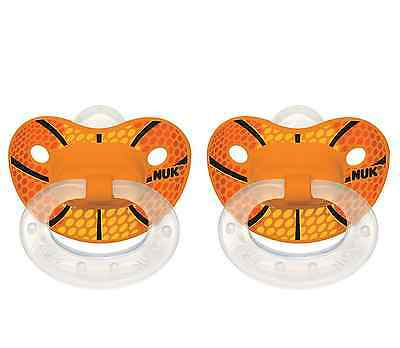 NUK Sports Orthodontic Pacifiers Silicone Assorted Colors 6+m 2 Each