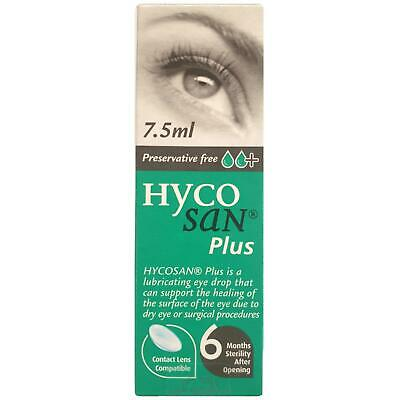 Hycosan Plus++ Eye Drops 7-5ml Preservative Free
