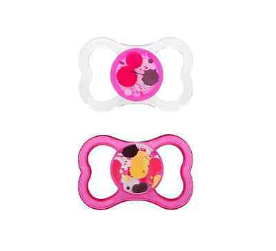 MAM BPA Free Orthodontic Pacifiers, Air, 6+ Months, Assorted Colors 2 ea