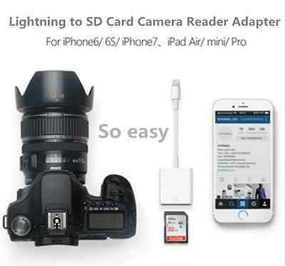 Lightning to SD Card Camera Reader Adapter for iPhone iPad Mini Air MD822ZM/A