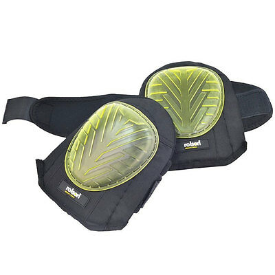 Heavy Duty Pair Of Gel Knee Pads Sewn Caps Industrial Strength Cap One Size
