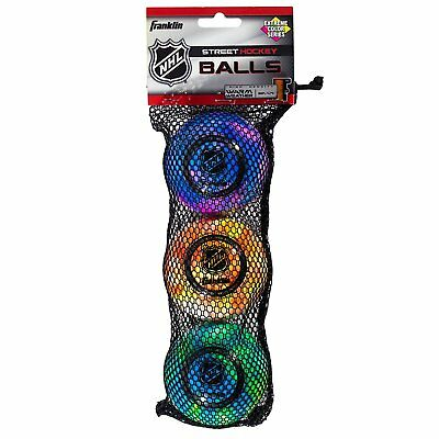 Franklin Sports NHL Extreme Color High Density Street Roller 3 PVC Hockey Balls