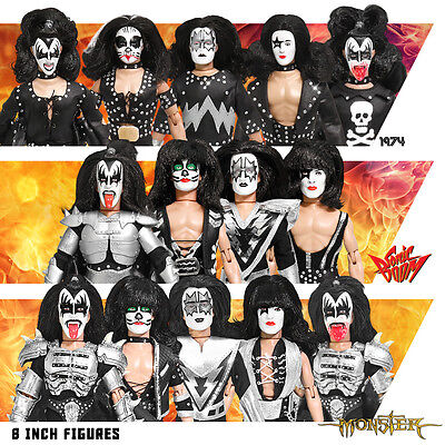 Set of 14 KISS 8 Inch Action Figures: Series 2 thru 4 (Loose)