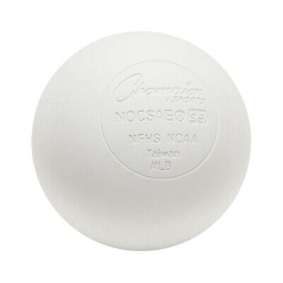 Champion Lacrosse Ball (x1) Official NFHS NCAA Mobility Massage Therapy-WHITE