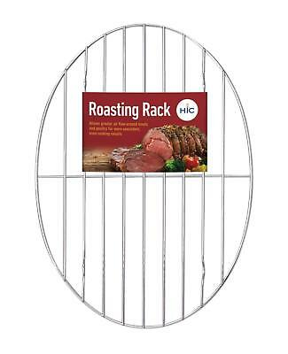 """Harold New Import 11-3/4"""" X 8 1/2"""" X 1/4"""" Oval Roasting Rack Fits In Most Pans"""