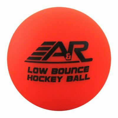 A&R Low Bounce Roller Street Floor Hockey Ball Orange 6 pack 60+ Degree Weather