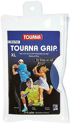 Tourna Tennis Over Grip 10 XL Overgrips Absorbent Dry Feel Tournagrip Blue