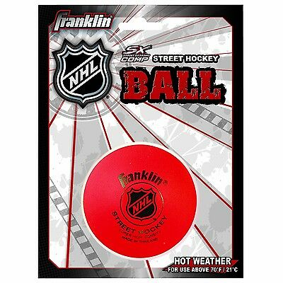 Franklin Sports Street Roller Hockey Ball Puck For Hot Weather High Density