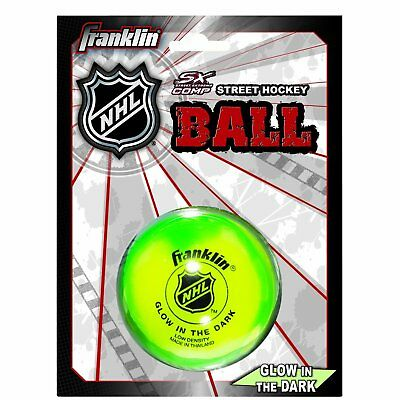 Franklin Sports Glow In The Dark Street Hockey Ball Puck High Density Durable