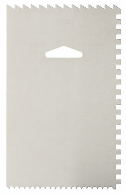 Ateco Aluminum Decorating Comb/Icing Smoother, 6 x 3.8 Inches