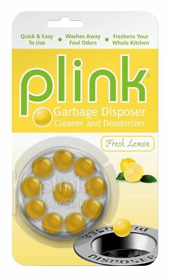 Plink Garbage Disposal Cleaner & Deodorizer 10 Pc Lemon Scented Biodegradable