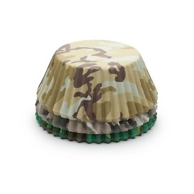 Fox Run Camouflage Paper Party Bake Cups 75 Pack Cupcake Muffin Liners 7134