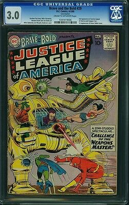 Brave and the Bold #29 CGC 3.0 Super Key! **2nd Justice League!** MAKE AN OFFER!