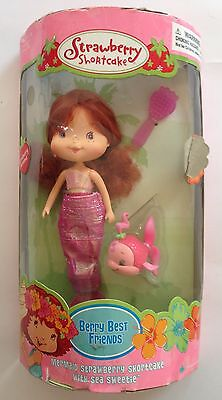 Strawberry Shortcake Berry Best Friends Mermaid Doll with Sea Sweetie Fish