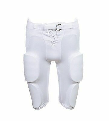 Martin Sports Youth Football Pants With Integrated Pad Medium White FPADY-MD-WHT