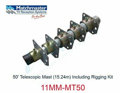 MATCHMASTER Antenna 50? Telescopic Mast (15.24m) Including Rigging Kit 11MM-MT50