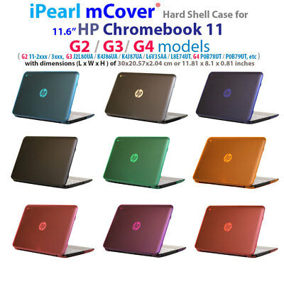 """NEW CLEAR mCover® HARD Shell CASE for 11.6"""" HP Chromebook 11 G2 G3 G4 series"""