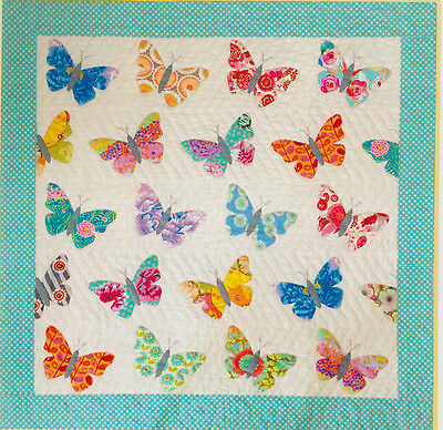 Butterflies - pretty and easy applique quilt PATTERN - Black Mountain Needlework