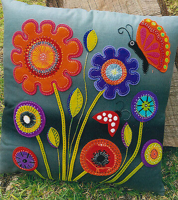 PATTERN - Baby Blooms Cushion - applique cushion PATTERN - Flying Fish