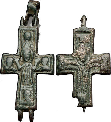 Medieval Christian Byzantine Reliquary Cross Crucifix circa 1000 - 1200AD i55311