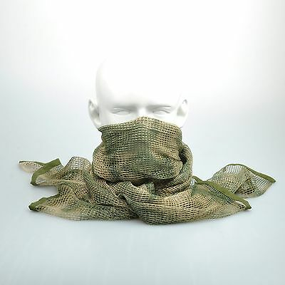 "A-TACS FG Camouflage Army Mesh Breathable Scarf Wrap Mask Shemagh Veil 74""x35"""