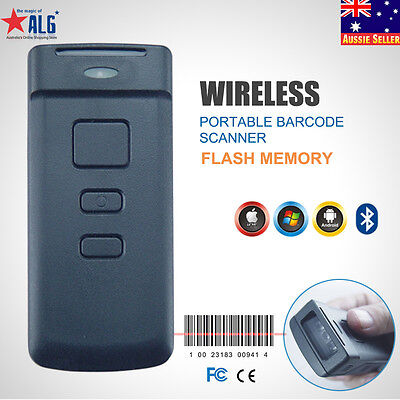 Mini Wireless Bluetooth Portable Barcode Scanner Reader for Android PC ipad iOS